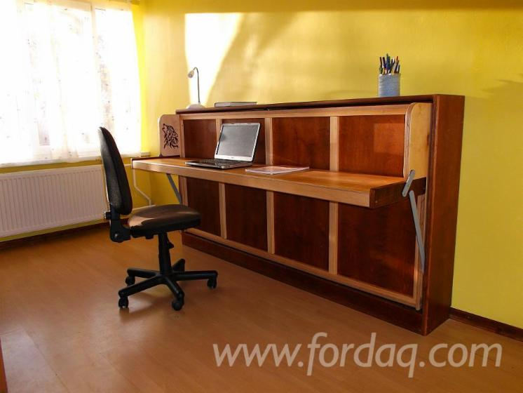 Enjoyable Wall Bed With Desk Murphy Bed Customarchery Wood Chair Design Ideas Customarcherynet