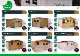 Wood Houses - Precut Timber Framing For Sale - Garden Log Cabin - Shed, Spruce (Picea abies) - Whitewood