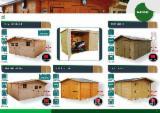 Drvena Kuća - Polugotove Drvene Grede Za Prodaju - Nadstrešnica Za Auto – Garaža, Jela -Bjelo Drvo