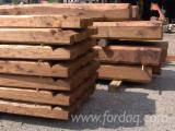 Sawn And Structural Timber Chestnut - Chestnut Beams from Italy, Lazio