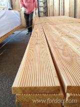 Flooring and Exterior Decking - Larch , Anti-Slip Decking (1 Side)