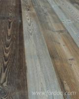 Engineered Wood Flooring - Multilayered Wood Flooring - FIR original upper flat blue/gray patina