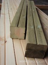 Glued Laminated Timber - Join Fordaq And See Best Glulam Offers And Demands - Glue-laminated pillars with Clover profile