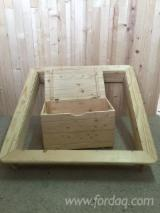 Bedroom Furniture - Kit - Diy assembly, Spruce (Picea abies) - Whitewood, Chests, Harghita, 1000-2000 pieces per month