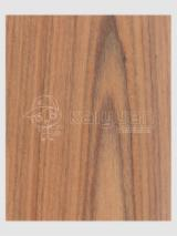 Engineered Veneer, Teak, Quartered, plain