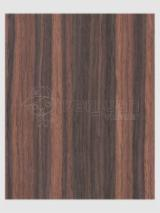 Engineered Veneer, Ebony, Macassar, Quartered, plain