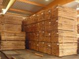 Beech lumber, unedged, steamed, KD