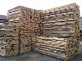 Hardwood  Unedged Timber - Flitches - Boules Not Steamed - We sell beech timber fresh and K.D.
