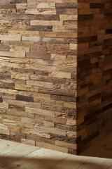 UNIKO panels for walls made in reclaimed oak and fir