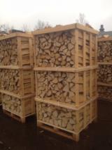 Feuerholz, Brennholz gespalten, Laubholz