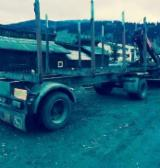 Oprema Za Šumu I Žetvu Prikolica S Pokretnim Podom - Prikolica S Pokretnim Podom Polovna Rumunija