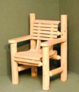 Scaune De Grădină - Mobilier gradina lemn - fotoliu busteni - 150 lei