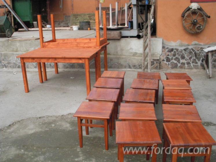 Art & Crafts/Mission Spruce (Picea Abies) Dining Sets Sibiu Romania