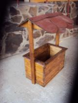 Flower Pot - Planter Garden Products - Spruce  - Whitewood Flower Pot - Planter from Romania