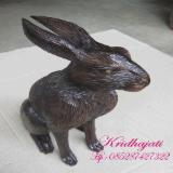 Living Room Furniture - Blck rabbit statue