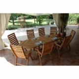 Buy Or Sell  Garden Tables - EXTENSIONAL OVAL IROKO TABLE