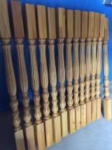 larch stair handrail