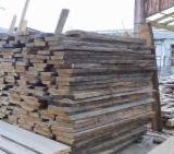 Laubholz  Blockware, Unbesäumtes Holz - Einseitig besäumte Bretter, Eiche (Europäische)