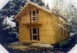Casas De Madera-estructura De Madera Precortada En Venta - Cabaña De Vacaciones, Abeto  - Madera Blanca