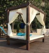 Contemporary Garden Furniture - Contemporary Fir Garden Loungers