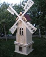Elemente Pentru Grădină - Moara de vant din lemn- decoratiune pentru gradina - 200 lei