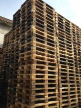Pallets – Packaging Fir Abies Alba, Pectinata Demands Italy - Euro Pallet - Epal, Recycled - Used in good state