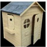 Wood Houses - Precut Timber Framing For Sale - Children Play House, Fir (Abies alba, pectinata)