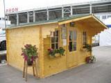 木屋- 预制框架 轉讓 - 花园原木小木屋-车棚, 云杉-白色木材