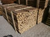 Softwood  Logs - Fire poles with bark