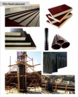 Film faced plywood (concrete formworking; shuttering plywood)