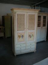 Living Room Furniture - Design Fir (Abies Alba, Pectinata) Display Cabinets in Romania