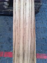Hardwood  Unedged Timber - Flitches - Boules - Loose Zebrano Boards from Cameroon, 27 mm