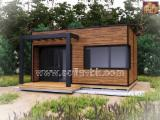 Wood Houses - Precut Timber Framing Pine Pinus Sylvestris - Redwood For Sale - Timber Framed House, Pine (Pinus sylvestris) - Redwood