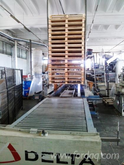Used-pallet-line-for