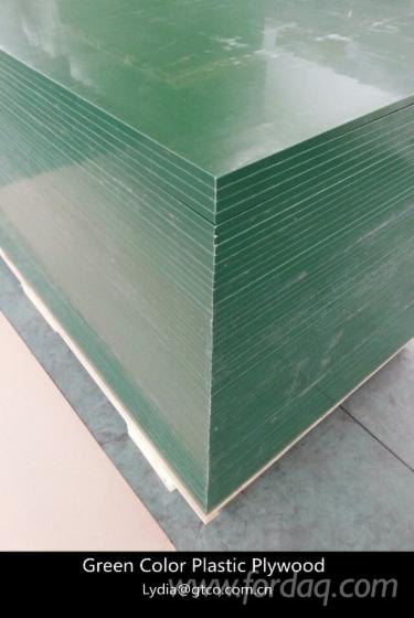 Green-color-plastic-laminted-film-plywood