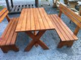 FSC Certified Garden Furniture - Contemporary, Spruce (Picea abies) - Whitewood, Garden Sets, Sarajevo, 200 pieces per month