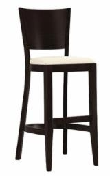 Offers BEECH STOOL WITH UPHOLSTERED SEAT
