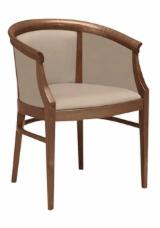 Contract furniture  Supplies Italy - FULLY UPHOLSTERED BEECH ARMCHAIR EDEN P