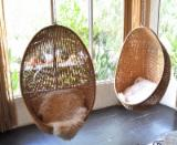 Garden Furniture Art & Crafts Mission - Polly rattan hanging chair