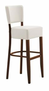 Furniture and Garden Products - BEECH STOOL ELENA SG WITH UPHOLSTERED SEAT AND BACK