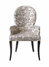 Furniture and Garden Products - FULLY UPHOLSTERED BEECH ARMCHAIR NEA C