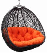 Garden Furniture Contemporary - Hanging rattan chair double wide