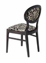 Contract Furniture For Sale - BEECH CHAIR CLAIRE WITH UPHOLSTERED SEAT AND BACK