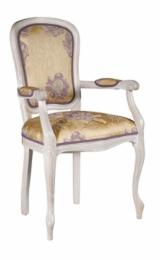 BEECH ARMCHAIR VITTORIA C WITH UPHOLSTERED SEAT AND BACK