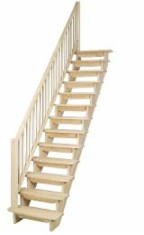 Spruce  - Whitewood Finished Products - Spruce (Picea Abies) - Whitewood Stairs in Romania
