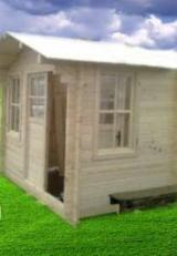 Wood Houses - Precut Timber Framing - Garden Log Cabin Week-end 4x4m