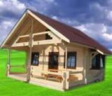 Wood Houses - Precut Timber Framing - Wooden House Supreme 6x5m