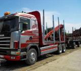 Forstmaschinen Langholz LKW - Gebraucht Scania 580 8V 1997 Langholz LKW Rumänien