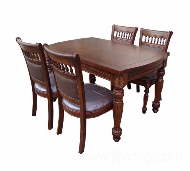 vend ensemble table et chaises pour salle manger colonial feuillus asiatiques hevea. Black Bedroom Furniture Sets. Home Design Ideas