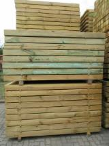 Softwood - Sawn Timber - Lumber - Planed timber (lumber)   Supplies Germany Pine timber / fence poles